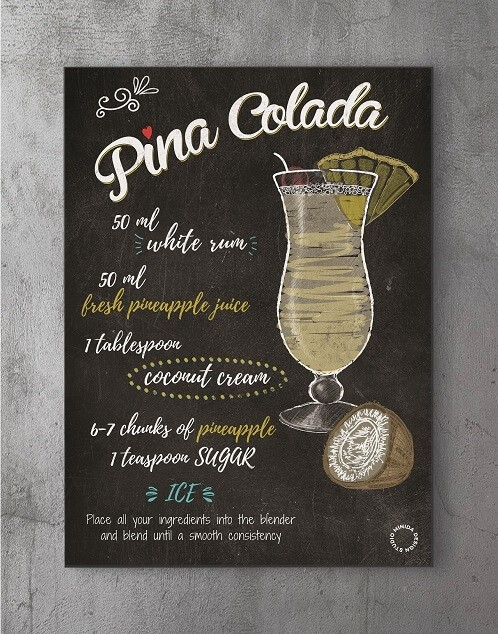 Plakater med citater - pina colada