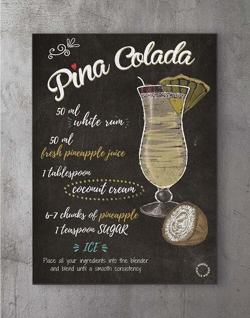 Plakater med citater - pina colada