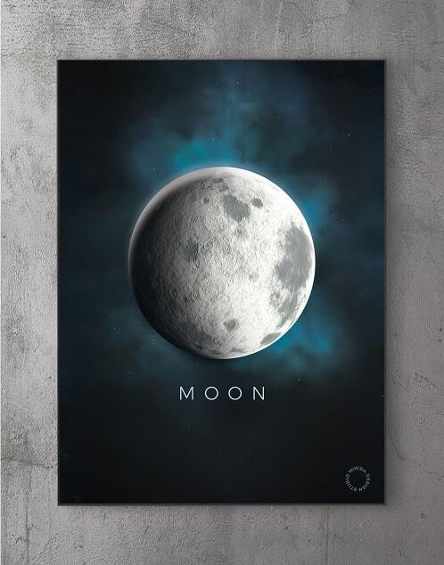 Billeder til væggen - the moon
