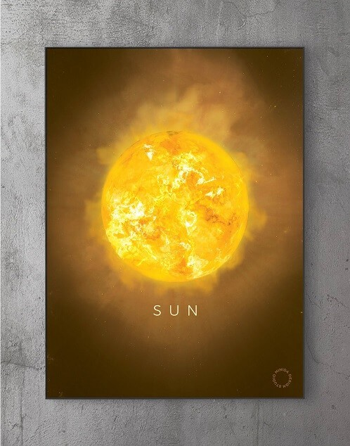 Billeder til væggen - solen
