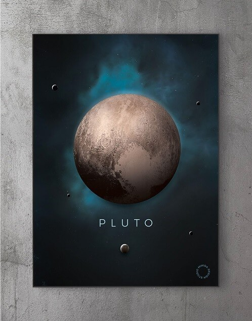 Billeder til væggen - pluto