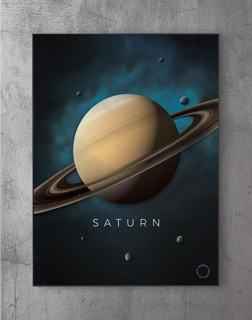 Billeder til væggen - saturn