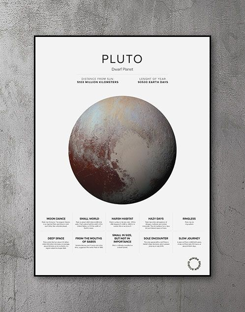 Plakat - Pluto Facts Facts