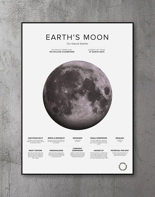 Plakat - The Moon Facts