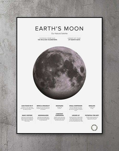 Plakat - The Moon Facts