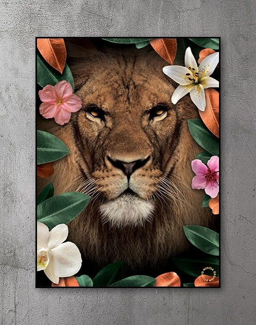 Plakat - Flower Lion