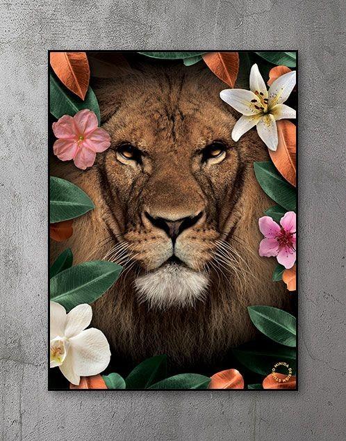 Plakat - Flower Lion