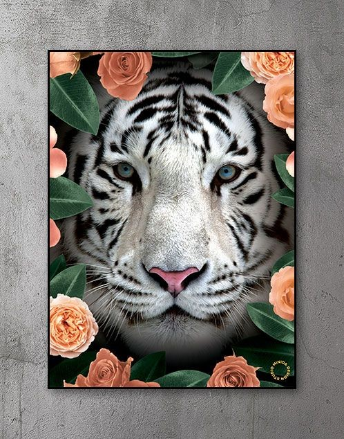 Plakat - Flower Tiger