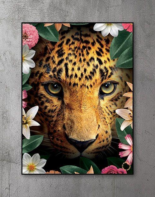 Plakat - Flower Leopard