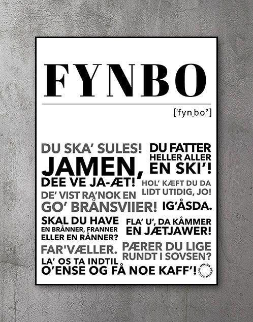 Plakat med tekst Fyn