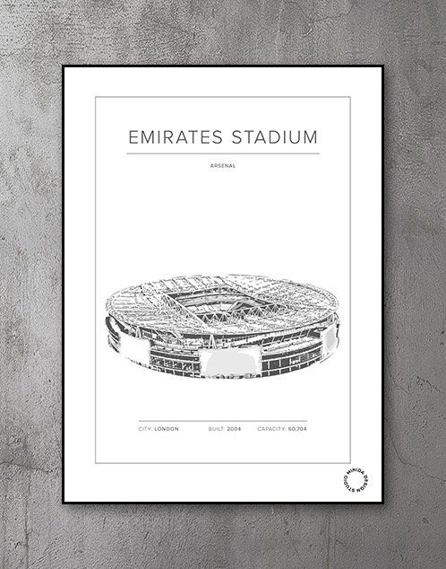 Plakat - Emirates Stadium - Arsenal