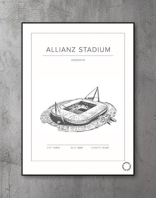 Plakat - Allianz Stadium - Juventus FC